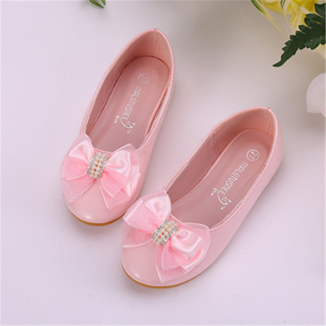 Girl flat heels spring and autumn style lace girl shoes in children's shallow mouth children's shoes leather shoes
