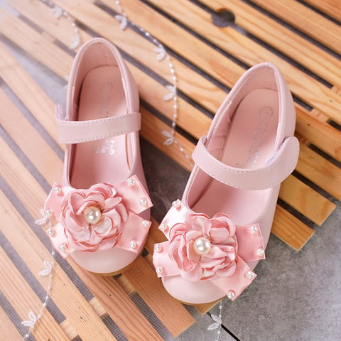 flower fashion girls shoes new brand flat with leather baby shoes elegant high quality children kids shoes toddlers