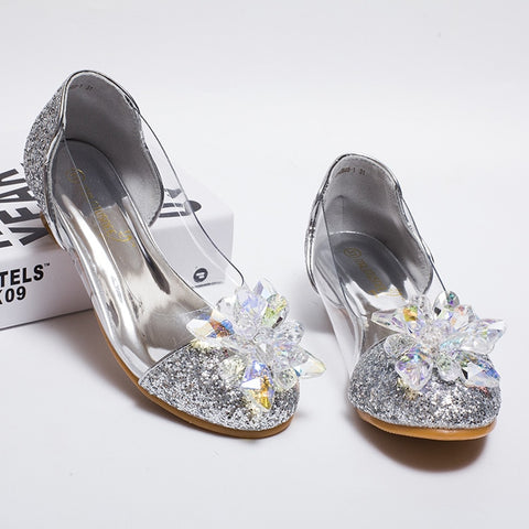Girls Princess Shoes Girls Sandals Wedding Party Shoes Ball Dancing Shoes