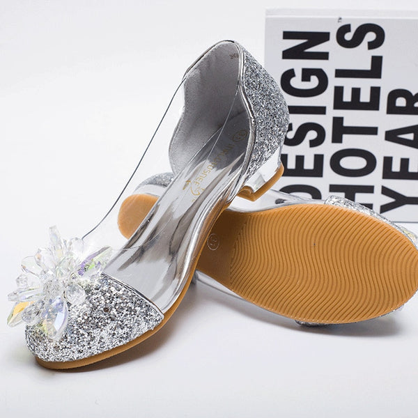 Children Princess Sandals Kids Girls Wedding Shoes High Heels Dress Shoes Party Shoes For Girls shoes
