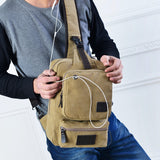 Travel Casual sling messenger chest bag High Quality Men Canvas Bag Pack Canvas Crossbody Sling Bag for ipad