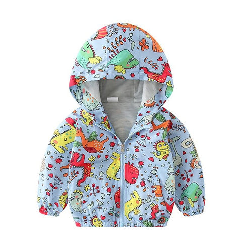 Summer autumn cartoon print children jackets 2-7Y casual Dinosaur style kids outerwear for boys new jackets boys