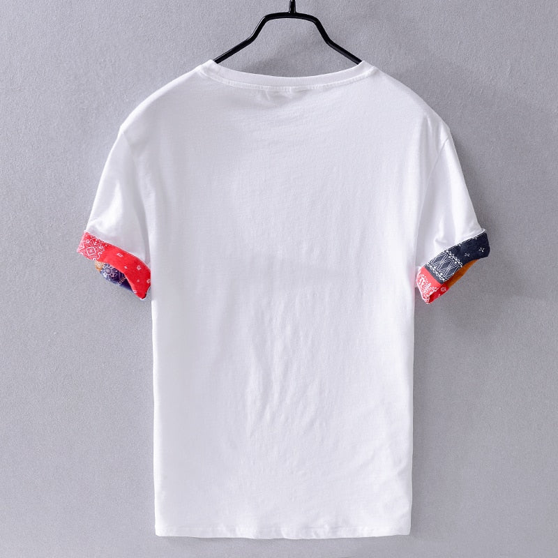 Summer white brand t shirt men linen and cotton t-shirt mens fashion casual shirt for men breathable loose t shirts camiseta