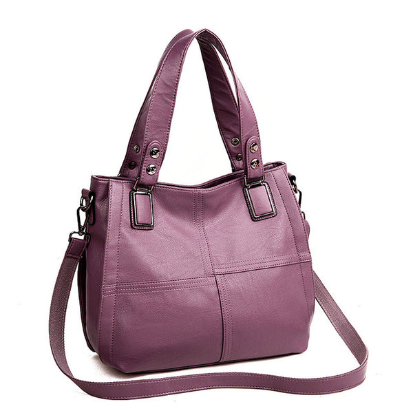 Luxury Brand Women Leather Handbag 100% Genuine Leather Casual Tote Bags Female Big Shoulder Bags for Women