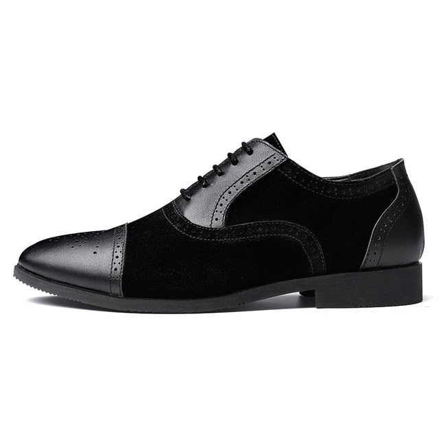 Men Dress Shoes Genuine Leather Casual Shoes British Gentleman Oxfords Business Formal Shoes Men Flats 38-47