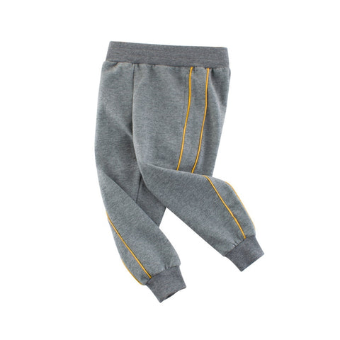 Spring Autumn Children Sports Pants Little Boys Leisure Trousers Kids Solid Color Cotton Sweatpants For Boys 2-8 Years