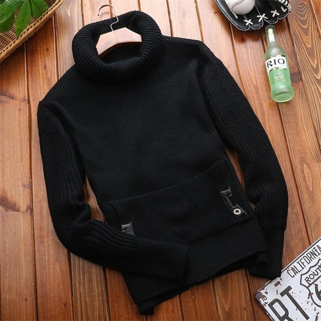 Autumn Winter Men Sweater Casual Pullovers Knitted Sweaters Men Clothes Fashion Sweaters for Men