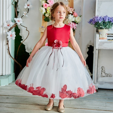 Flower Girl Baby Wedding Dress Children's Clothing Girl Party Dress Kids Clothes Graduation Tulle Gown Teenage Girl 6 8 10 Years