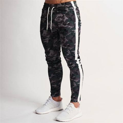 New Brand Men Joggers Sweatpants Trousers Fashion Gyms Fitness Bodybuilding Pocket Long Pants Boutique Men's Sportswear