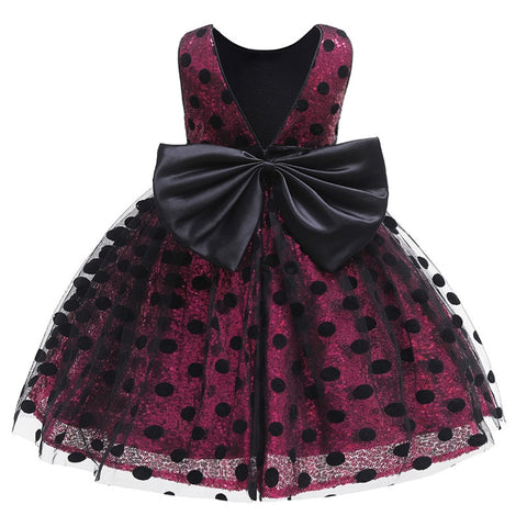 Baby Girl Dress Lace Bowknot Birthday Dresses for Girls 1-5 Year Infant Elegant Party Wedding Dress Baby Clothing