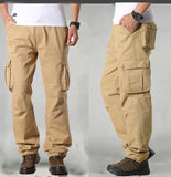 Men's Casual Trousers Fashion Menswear Cargo Pants Overalls Multiple Pockets Mens Casual Pants Men Trouser Baggy Pant 42 44