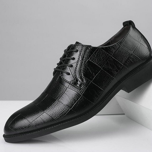 Black Brown Low Top Men Formal Office Shoes Men Dress Shoes BIG / Plus Size 38-47 Men Business Wedding  Flat Oxford Shoes  LK-45