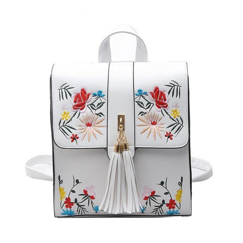 Embroidery Women Backpack High Quality Style Female Rucksack School Bags For Teenage Girls