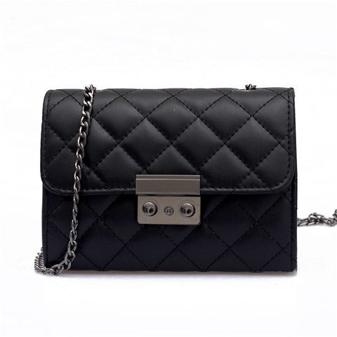 New Women's Bag Fashion rhombic Chain Bag Wild Messenger Small Square Bag Ladies Shoulder Bags Black Red Gray Factory Price