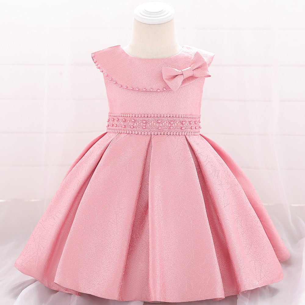 US Newborn Baby Kids Girls Princess Dress Casual Party Striped Dresses Clothes