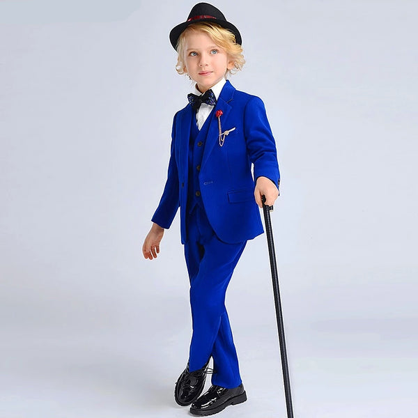 6pcs/set Handsome blue suit for boy blazer boys suits