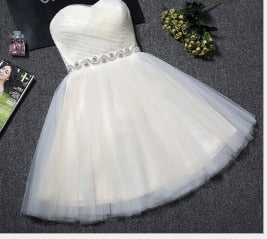 New Women Boho Short A Line Dress Sweetheart Beads Sashes Formal Evening Party Dresses