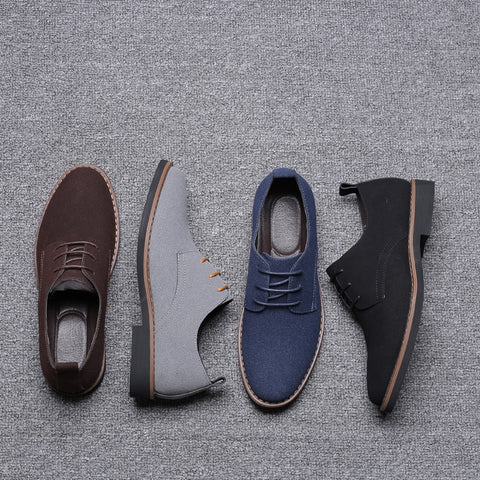 Lace-Up Men Casual Formal Dress Shoes Vintage Office Work Gentlemen Leather Shoe Wedding Oxfords Zapatos Hombre
