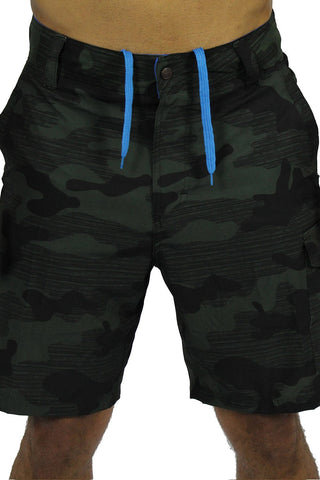 CAMOUFLAGE BOAT SHORT - GREEN
