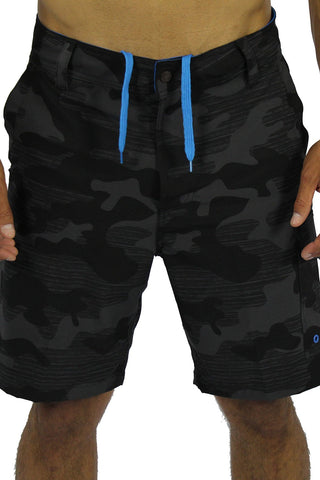 CAMOUFLAGE BOAT SHORT - BLACK