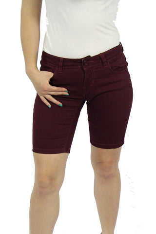 APPLE LIGHT NON DENIM SHORT - BURGUNDY