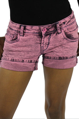 JADE DENIM SHORT - PINK