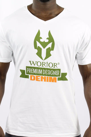 WORIOR T-SHIRT - WHITE & GREEN