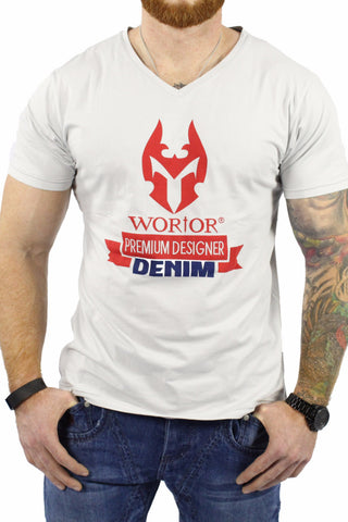 WORIOR T-SHIRT - WHITE & RED
