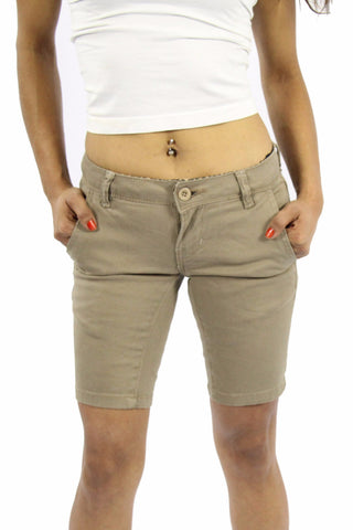 APPLE LIGHT NON DENIM SHORT - KHAKI