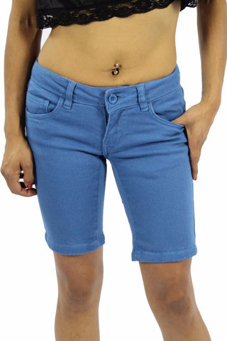 APPLE LIGHT NON DENIM SHORT - SKY BLUE