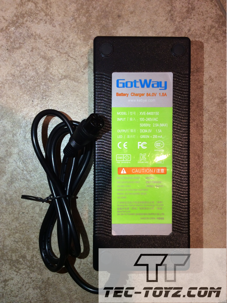 GotWay 84V 4-pin 1.5Amp Charger