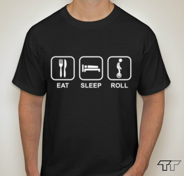 Eat Sleep Roll Shirts