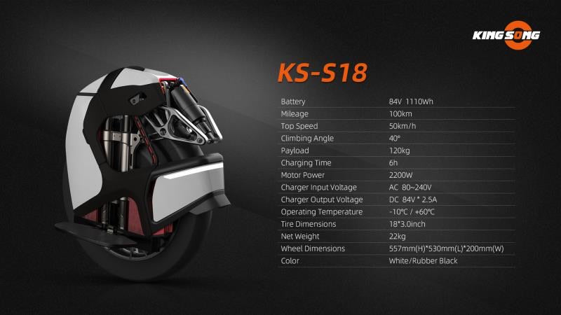 Kingsong S18 Electric Unicycle
