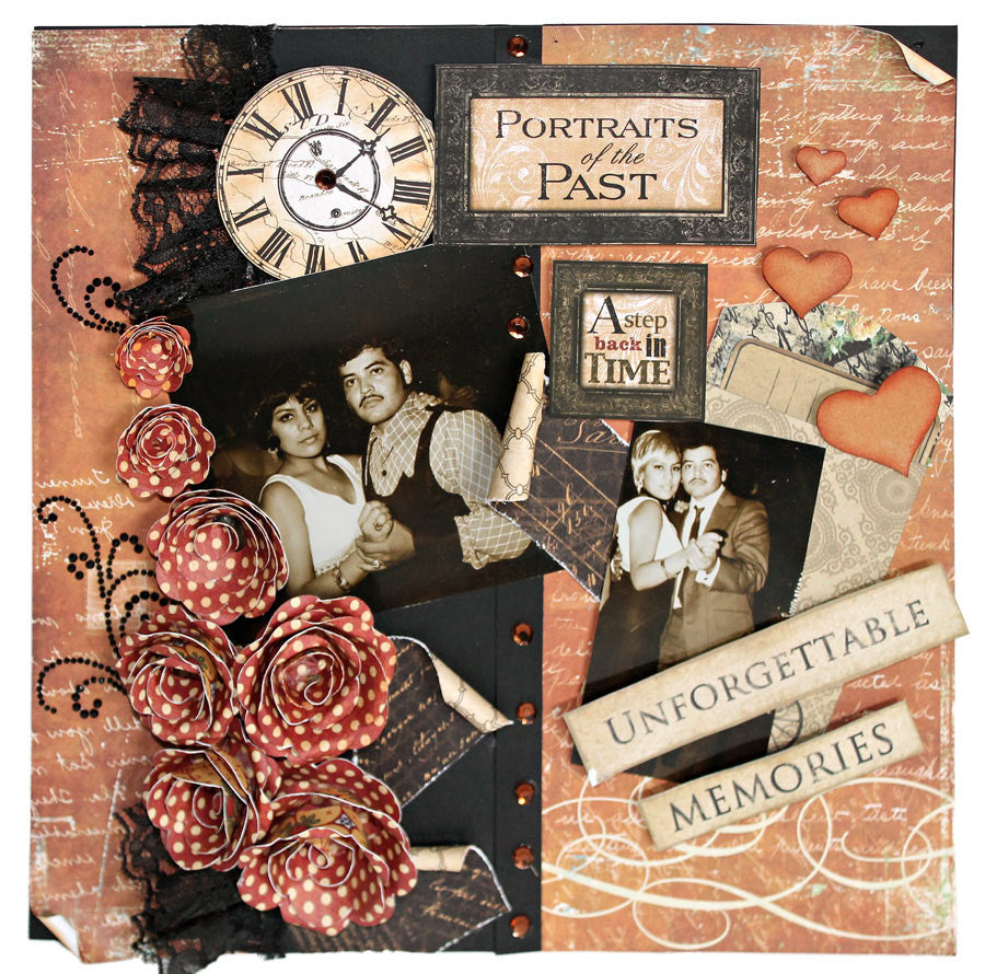 CREATE A VINTAGE SCRAPBOOK LAYOUT THAT LOOKS RUSTIC!