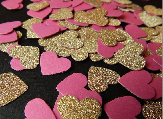 Celebrate Valentine's Day with Pink Glitter Paper
