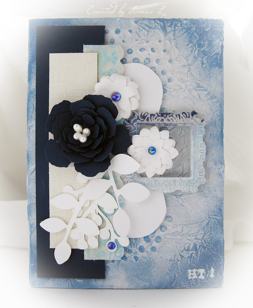 Creating Layers with Blue Floral Paper