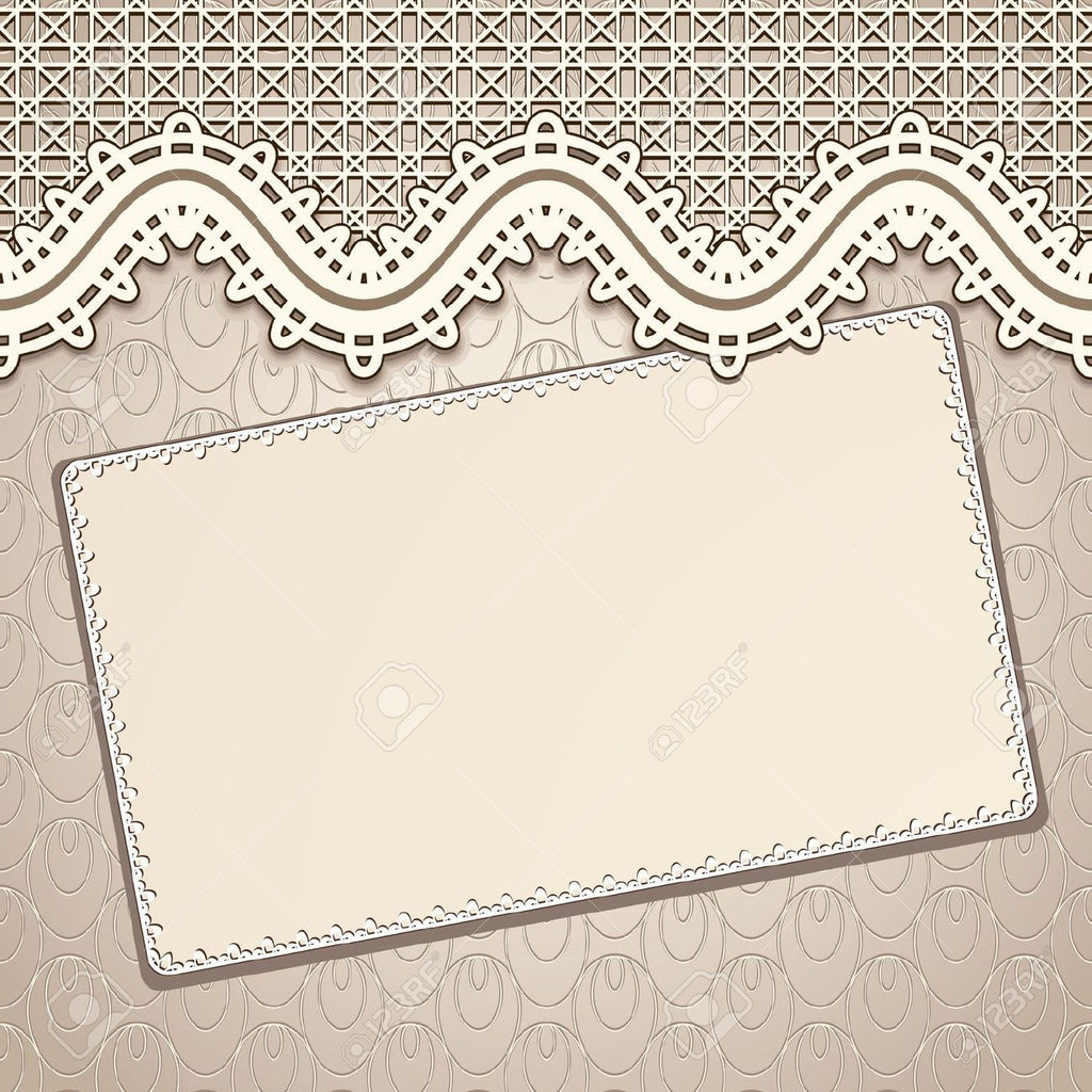 How to Create a Vintage Lace Clipart Wedding Invitation