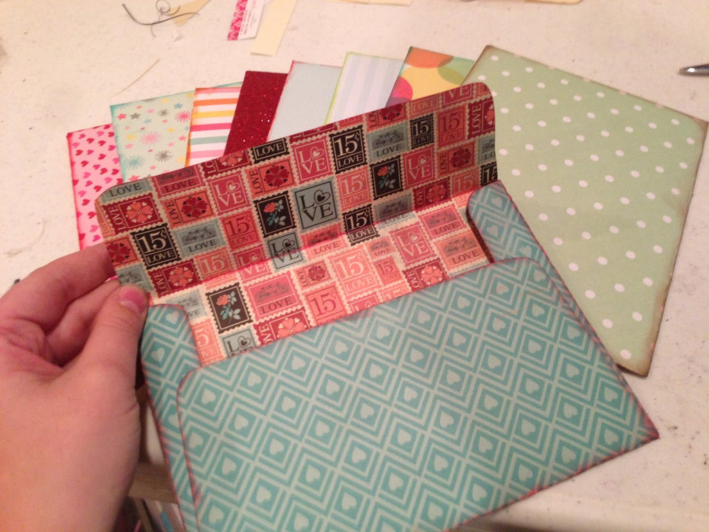 How to Make Envelopes from Printable Scrapbook Paper