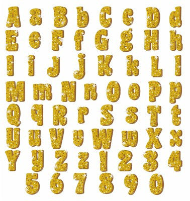 How to Make Glitter Letters with Gold Glitter Digital Paper