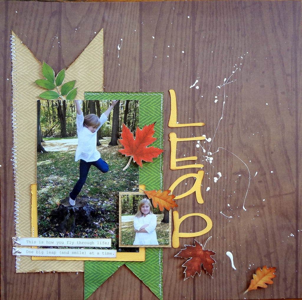 Leaf Paper Motifs for Scrapbook Pages