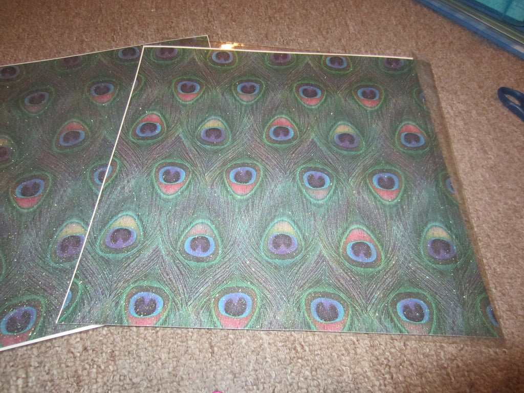 Peacock Scrapbook Paper Memories