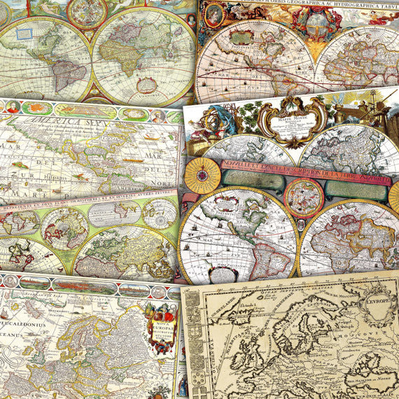 The Great things to do with Vintage Maps Digital Papers