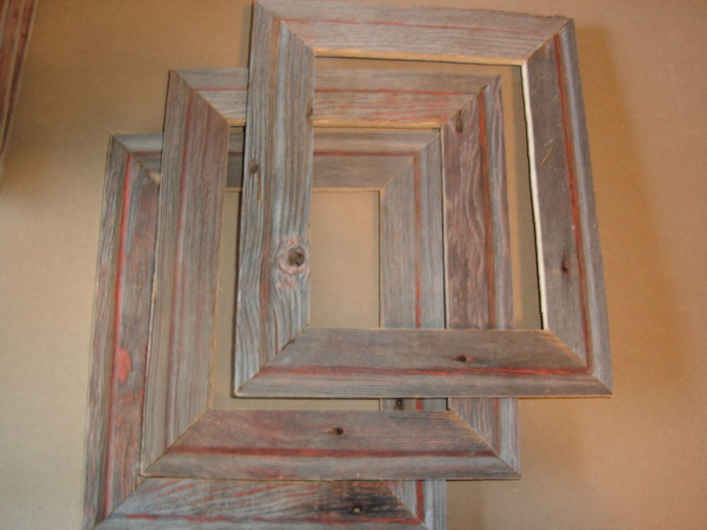Time travel with distressed wood frames