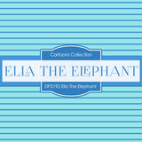 Ella The Elephant Digital Paper DP2192 - Digital Paper Shop - 2