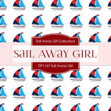 Sail Away Girl Digital Paper DP1167 - Digital Paper Shop - 2