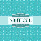 Nautical Teal Digital Paper DP857 - Digital Paper Shop - 2