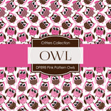 Pink Pattern Owls Digital Paper DP898A - Digital Paper Shop - 2