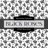 Black Roses Digital Paper DP3367