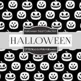 Black and White Halloween Digital Paper DP782 - Digital Paper Shop - 2