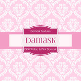 Lilac & Pink Damask Digital Paper DP419 - Digital Paper Shop - 2